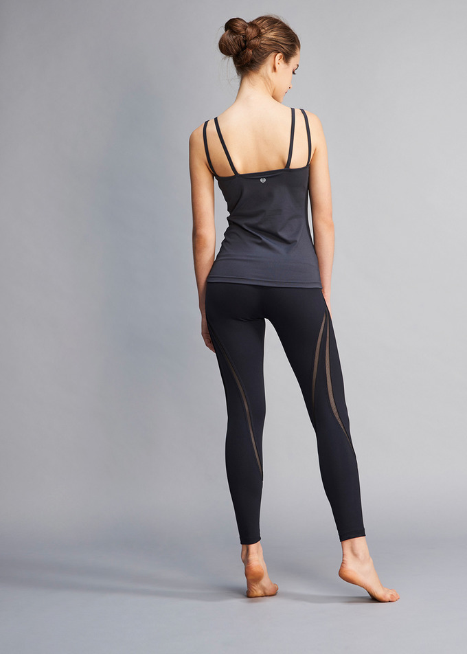 Mesh Stripe Tight - 블랙(Black)